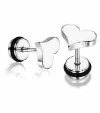 Earring Heart Thickness 1.2mm Length 7mm