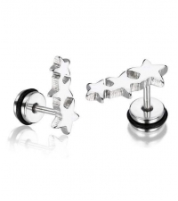 Earring Three stars Thickness 1.2mm Length 7mm