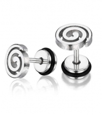 Earring Spiral  Thickness 1.2mm Length 7mm