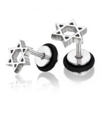 Earring Hexagram Thickness 1.2mm Length 7mm