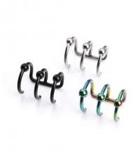 Triple Ear cuff Fake closure rings