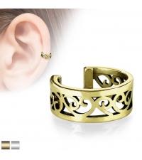Ear cuff Filigree gold