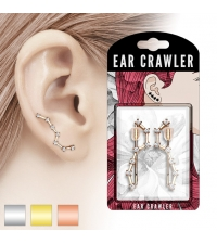 Long stud earrings Stars with fianite stones
